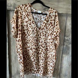 Fun leopard print tunic/dress with pockets!